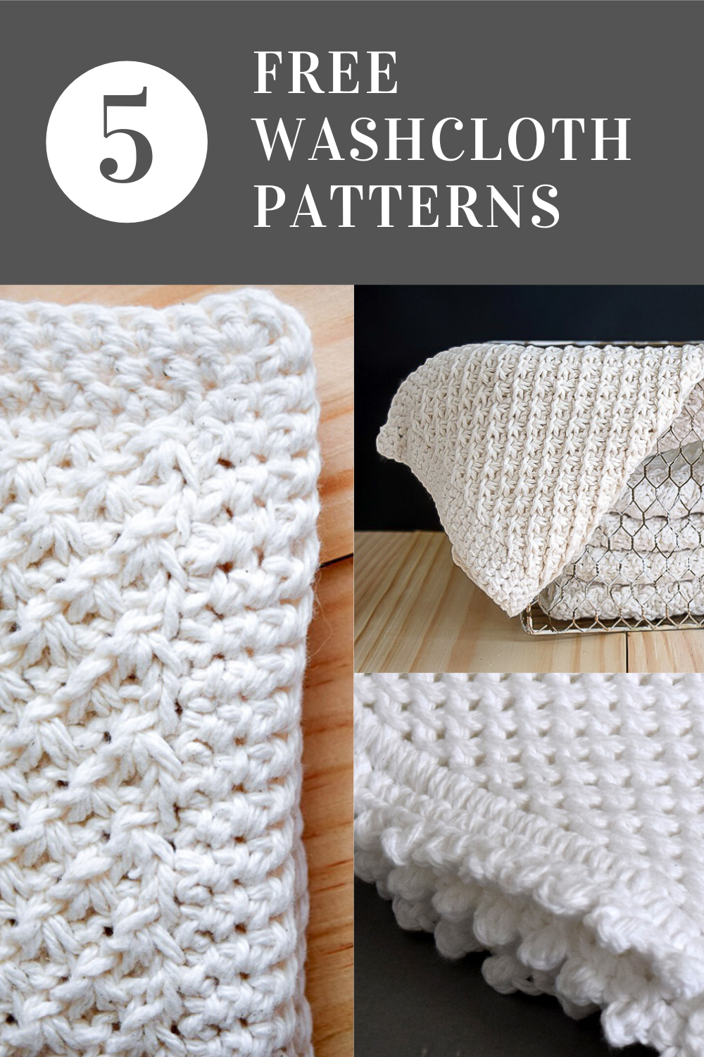 Five Free Knitted Dishcloth Patterns in 2020   Dishcloth ...