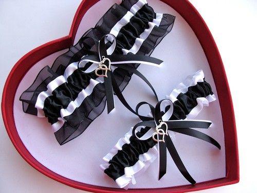 NEW Sexy Black White Wedding Garter SELECT SingleSetRegPlus Size Charm