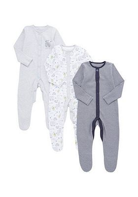 c2e635228e57c F&F 3 Pack of Transport Print and Striped Sleepsuits | My Family ...