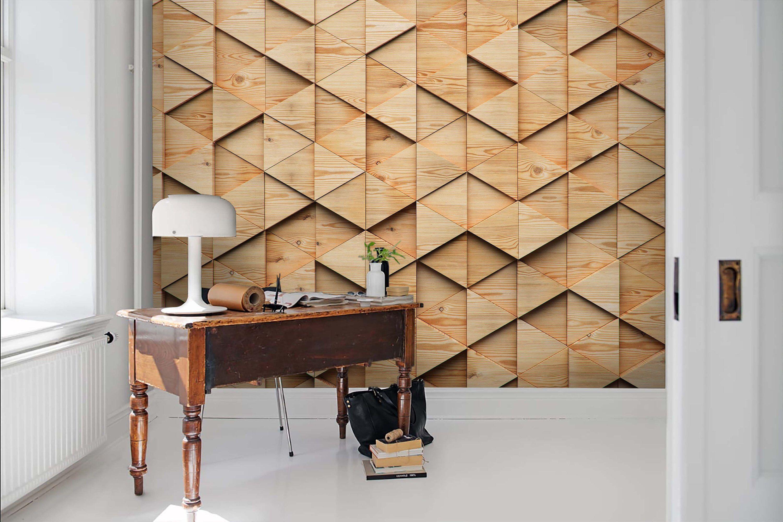 3d Uneven Mosaic Wood Grain Wallpaper Removable Self Adhesive Wallpaper Wall Mural Vintage Art Peel And Stick Wood Grain Wallpaper Mural Wallpaper Feature Wall Wallpaper