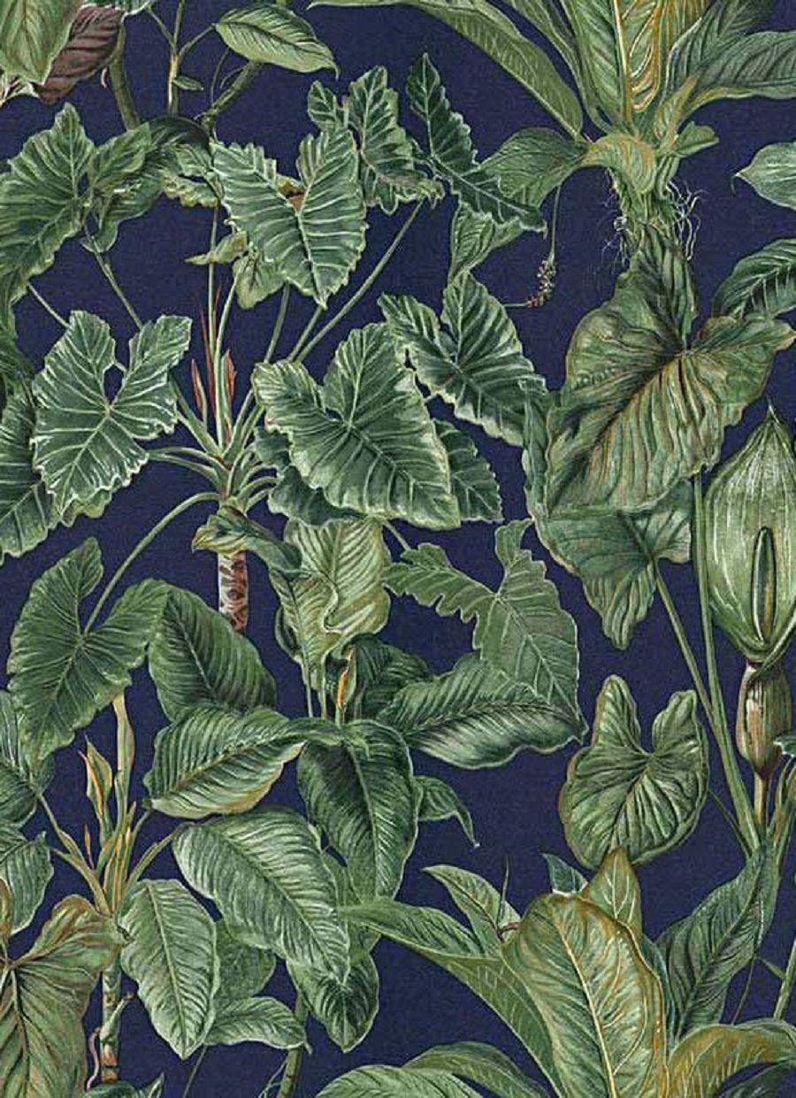 Tapete Erismann Paradisio 6303 08 Floral Blätter 630308 Blau Grün/ 2,62 U20ac