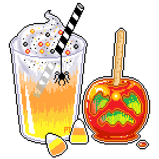 Halloween Treats pixel art (540×539) | Pixel art, Conselhos para desenho,  Drawing