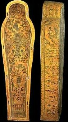 Anthropoid coffin of Paduamen, with inner board and lid.