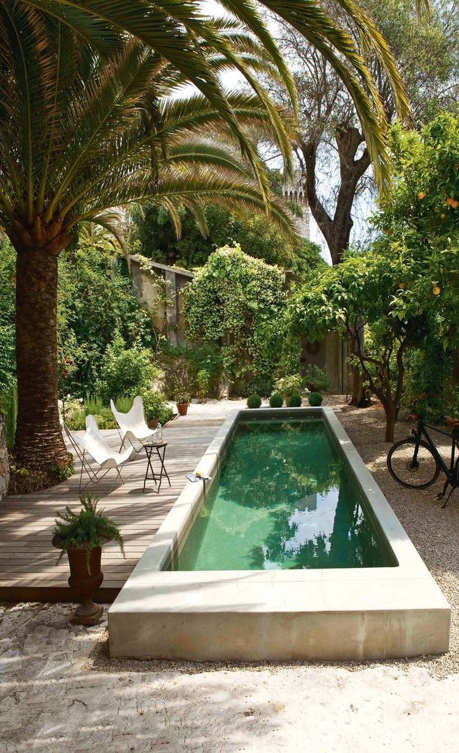 Mini piscine pinterest piscine en beton arm es et - Mini piscine beton ...