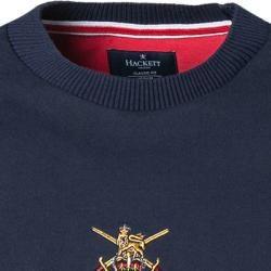 Hackett Herren T-Shirt, Classic Fit, Baumwolle, navy-feuerrot blau Hackett