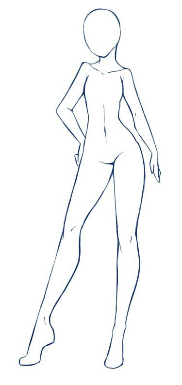 Clothes Base Female Model By Rika Dono On Deviantart Drawing Body Poses Body Drawing Anime Drawings Tutorials