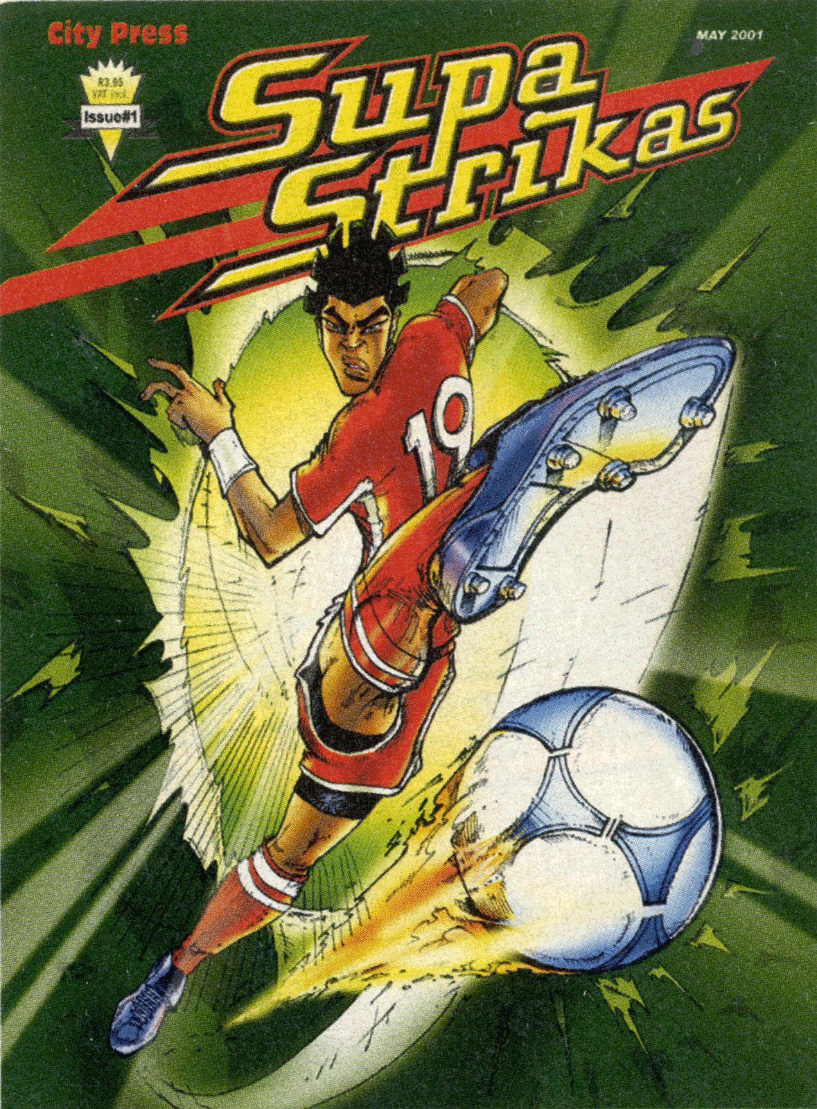 Supa Strika Namibia Issue 1 Cover Comic Books Animation Art