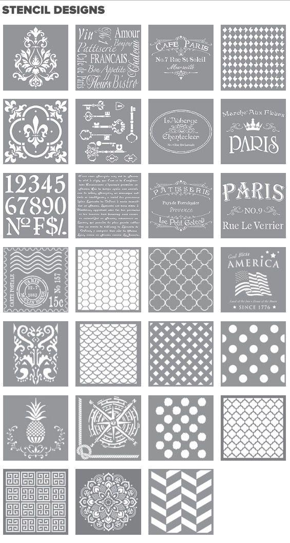 Decoart Americana Decor Chalky Finish Vintage Stencil Designs