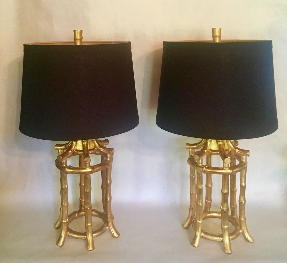 Pair vintage gilded faux bamboo chinoiserie hollywood regency lamps pair vintage gilded faux bamboo chinoiserie hollywood regency lamps arubaitofo Choice Image