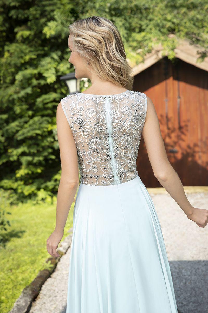 Wunderschöne Rückenansicht mit transparentem Oberteil und ...