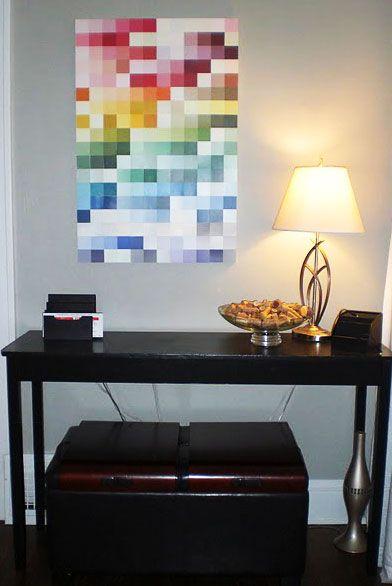 Ombre paint chip art | Pinterest | Paint chips, Paint chip art and ...