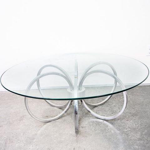 Mid Century Modern Modernist Milo Baughman Circular Ring Coffee