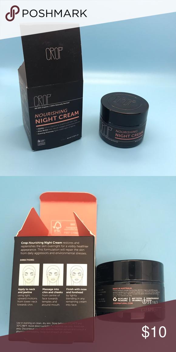 CROP Organic Nourishing Night Cream w/ Jojoba Oil Brand new, never opened CROP Organic Nourishing Night Cream with Jojoba Oil, Shea Butter, & Evening Primrose!