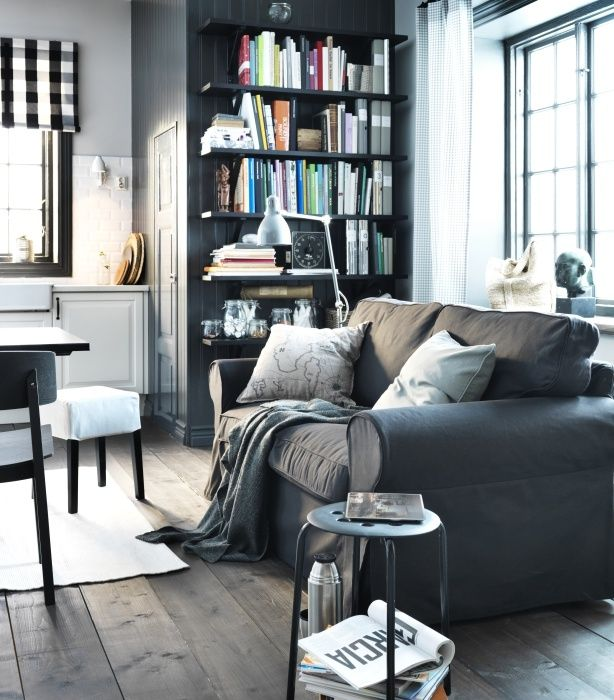 Image result for grey ikea ektorp loveseat M\M living room - ikea ektorp gra