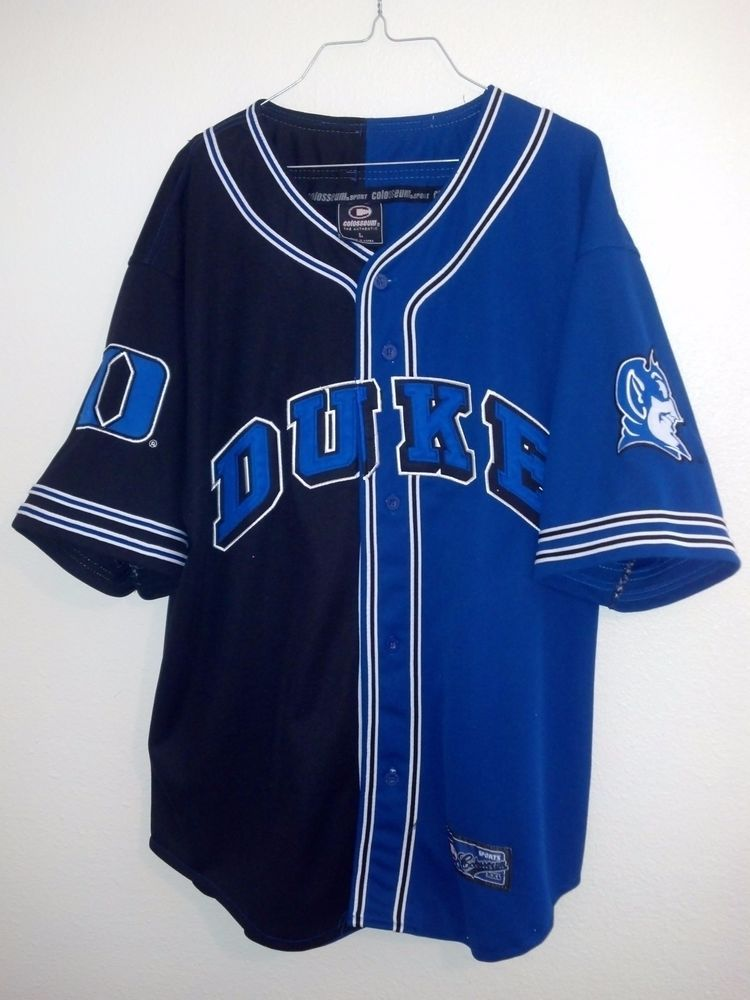 wholesale dealer e6809 86278 COLOSSEUM SPORTS DUKE BLUE DEVILS NCAA BASEBALL JERSEY SHIRT ...