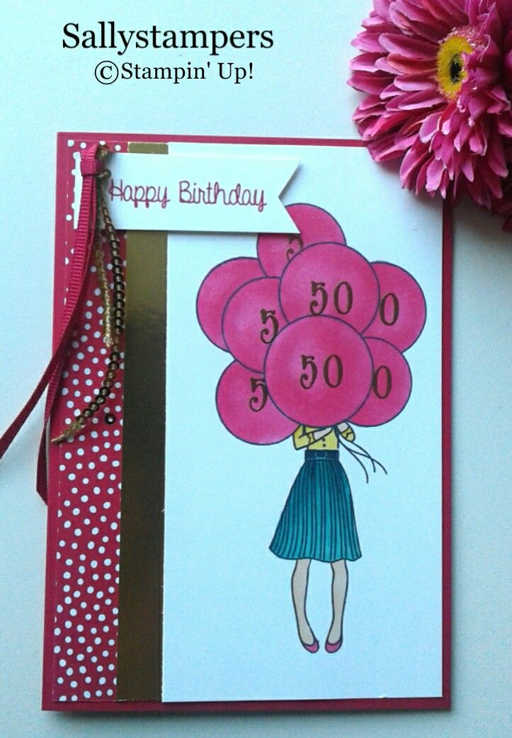 Happy Birthday Hand Delivered 50th birthday cards for