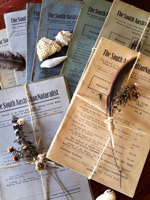 South Australian Naturalist Journals on Etsy, $15.00 AUD