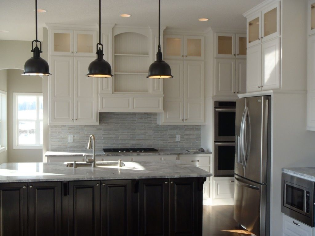White Kitchen Dark Island nice kitchen white cabinets dark island | new home ideas
