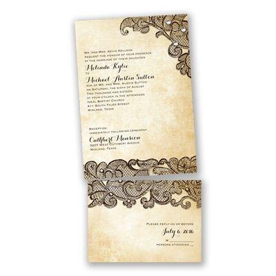 Bella Border Apple Value Invitation Set Invitation Set Invitations Budget Wedding Invitations