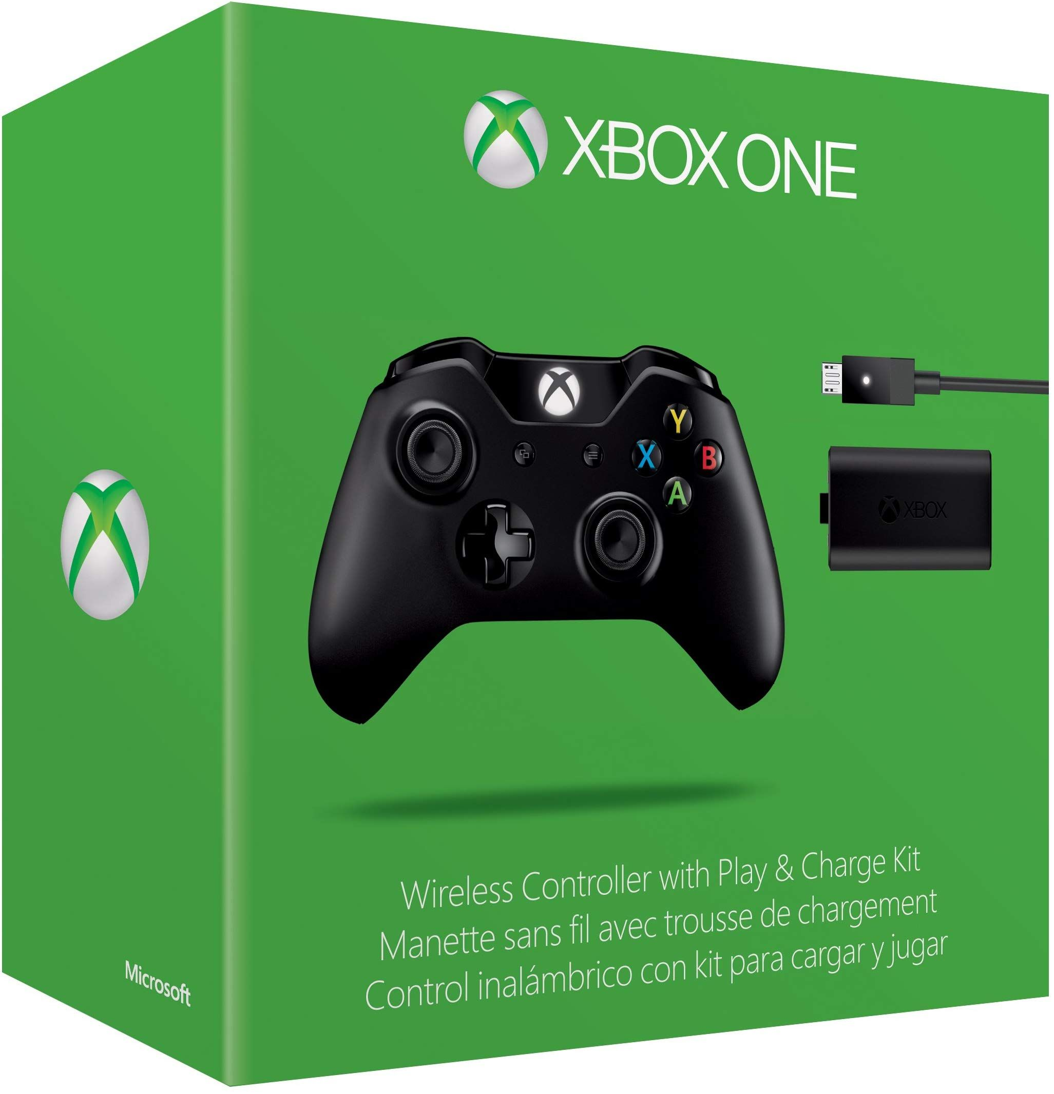 Xbox One Wireless Controller and Play & Charge Kit (Without