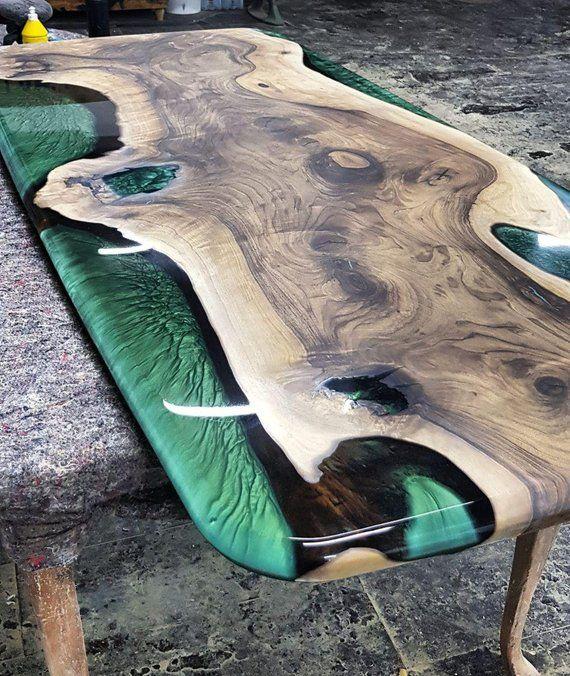 Table Collection epoxy wood wood epoxy resin modern   Etsy