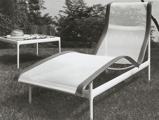 richard schultz patio furniture - Now here is a PROPERLY DESIGNED sling chair! Contoured so you won't keep sliding down, no pressure points or unsupported body parts....and released in 1966! Good example of why I buy vintage, at the end of the day it may cost the same as the top of the line once it is redone but it is built better and IT WORKS!!! I sent my (modern) sling chairs off with the scrap guys!