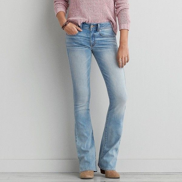 American eagle ripped bootcut jeans