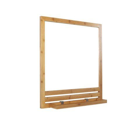 Miroir avec tablette l.53.0 cm Natural | DECO STUDIO ...