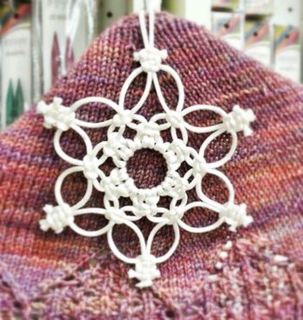 Новогодние украшения в технике макраме - Ярмарка Мастеров - ручная работа, handmade #julepyntinspiration