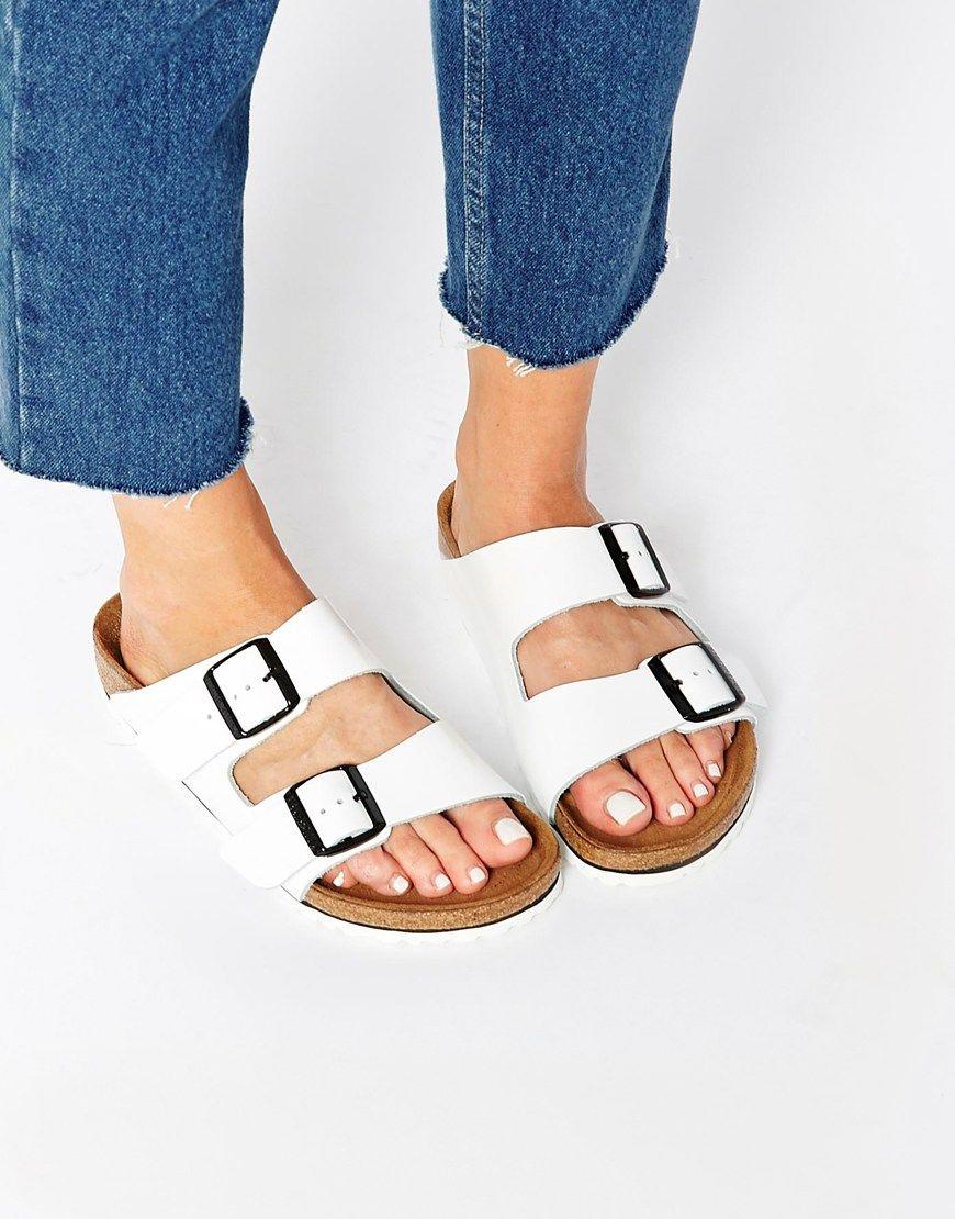 d4c0179de8e Birkenstock Arizona White Patent Leather Sandals