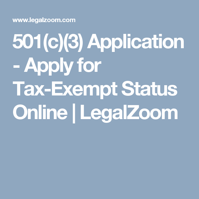 Apply For Tax-Exempt Status Online