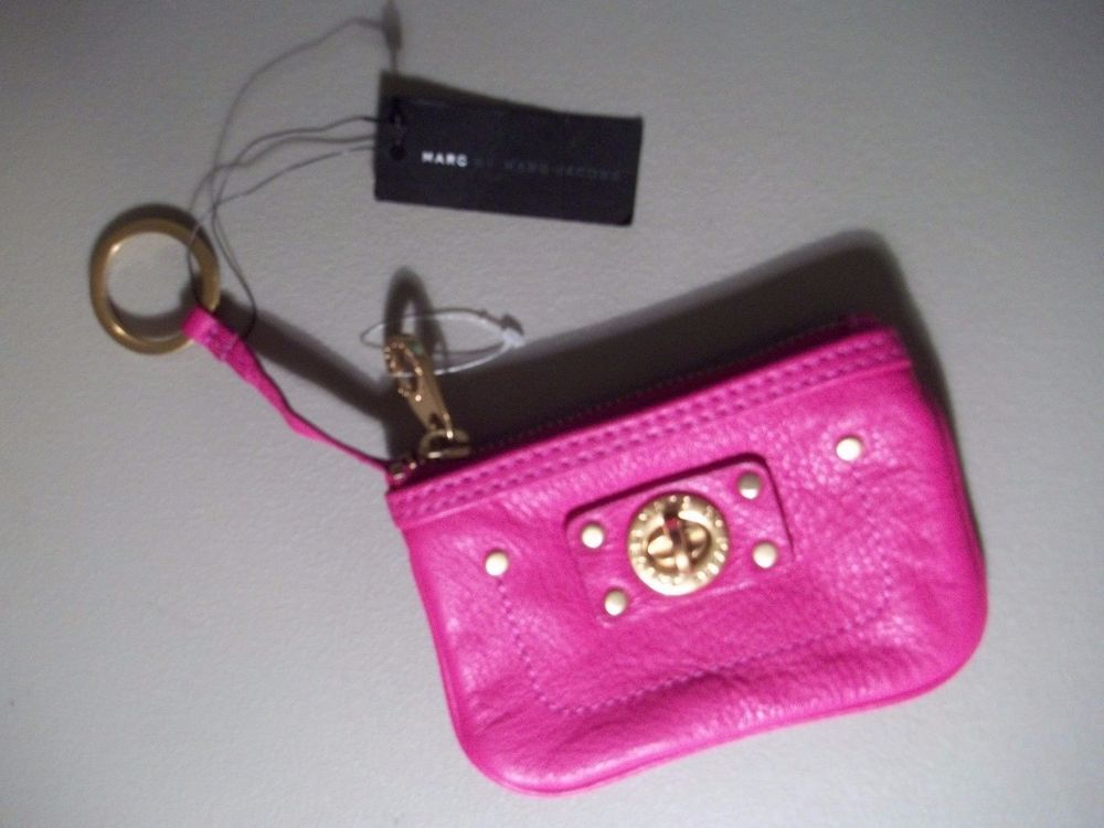 7870e0188f0 Marc By Marc Jacobs Totally Turnlock Keychain Wristlet Leather Wallet Pink  NWT #MarcByMarcJacobs #Clutch