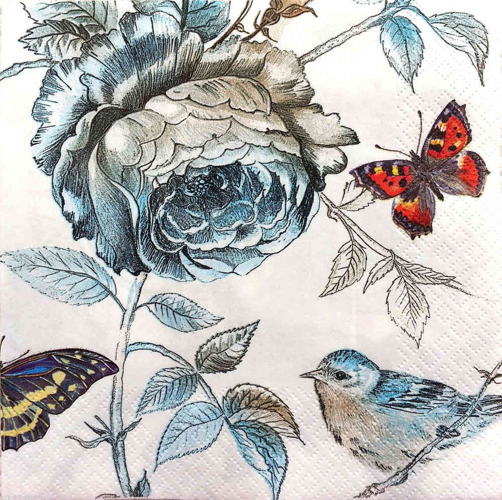 4 x Single  Table Paper Napkins Nest Party //for Decoupage Craft