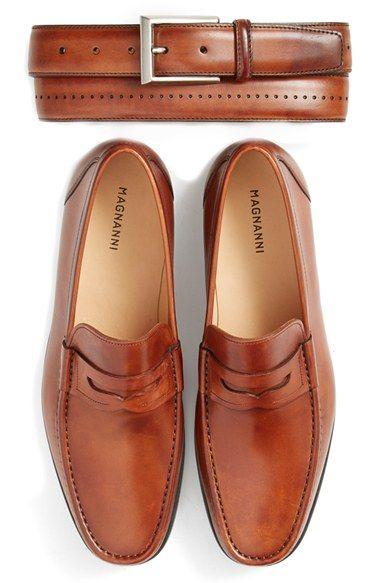 3ce17025f66 Magnanni  Catalux  Belt - Colour  Cognac Penny Loafers