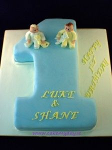 Twin Boys 1st Birthday Cake Ideas 224x300 Cakes For