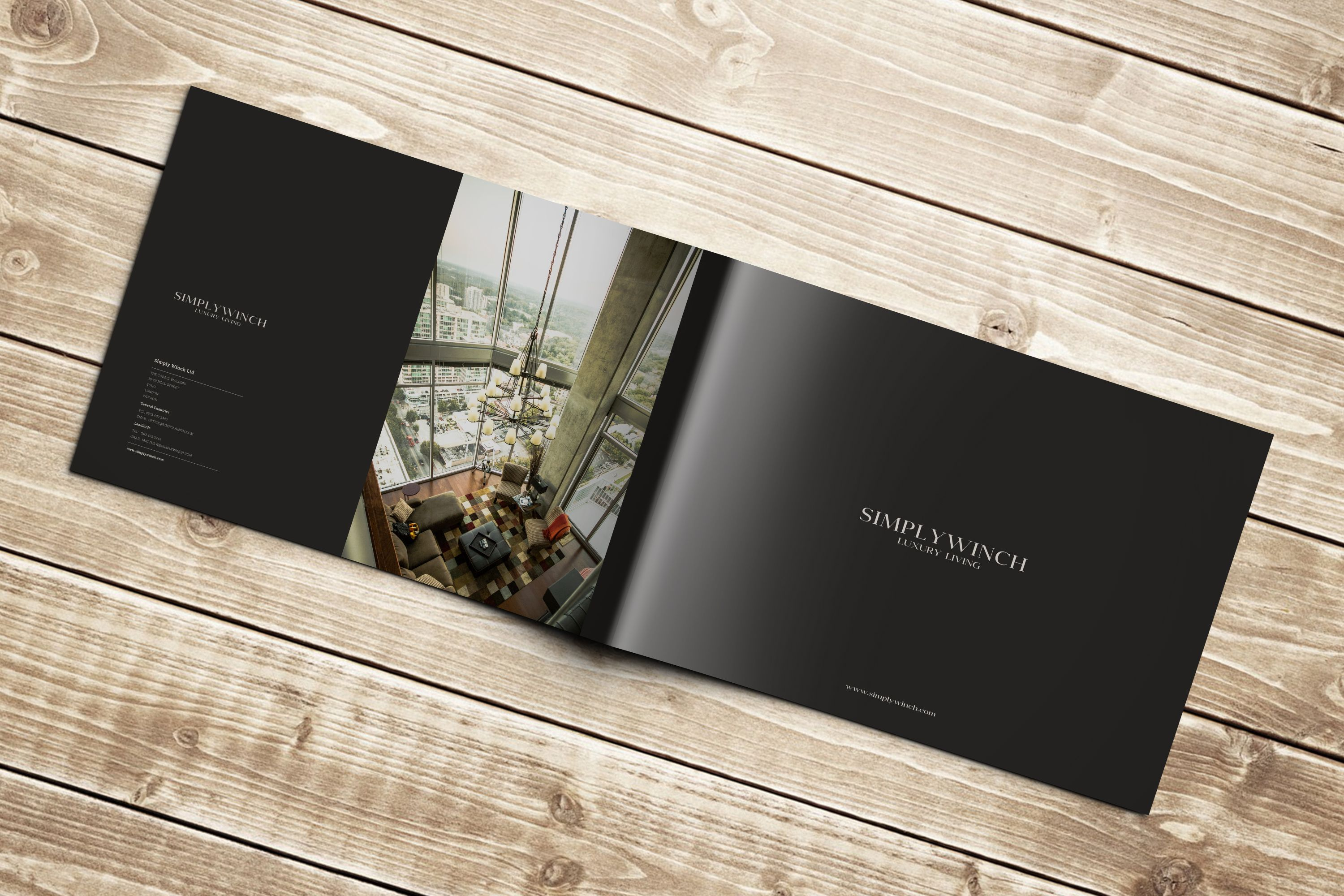 Simply Winch Brochure for high end luxury apartment lettings agency ...