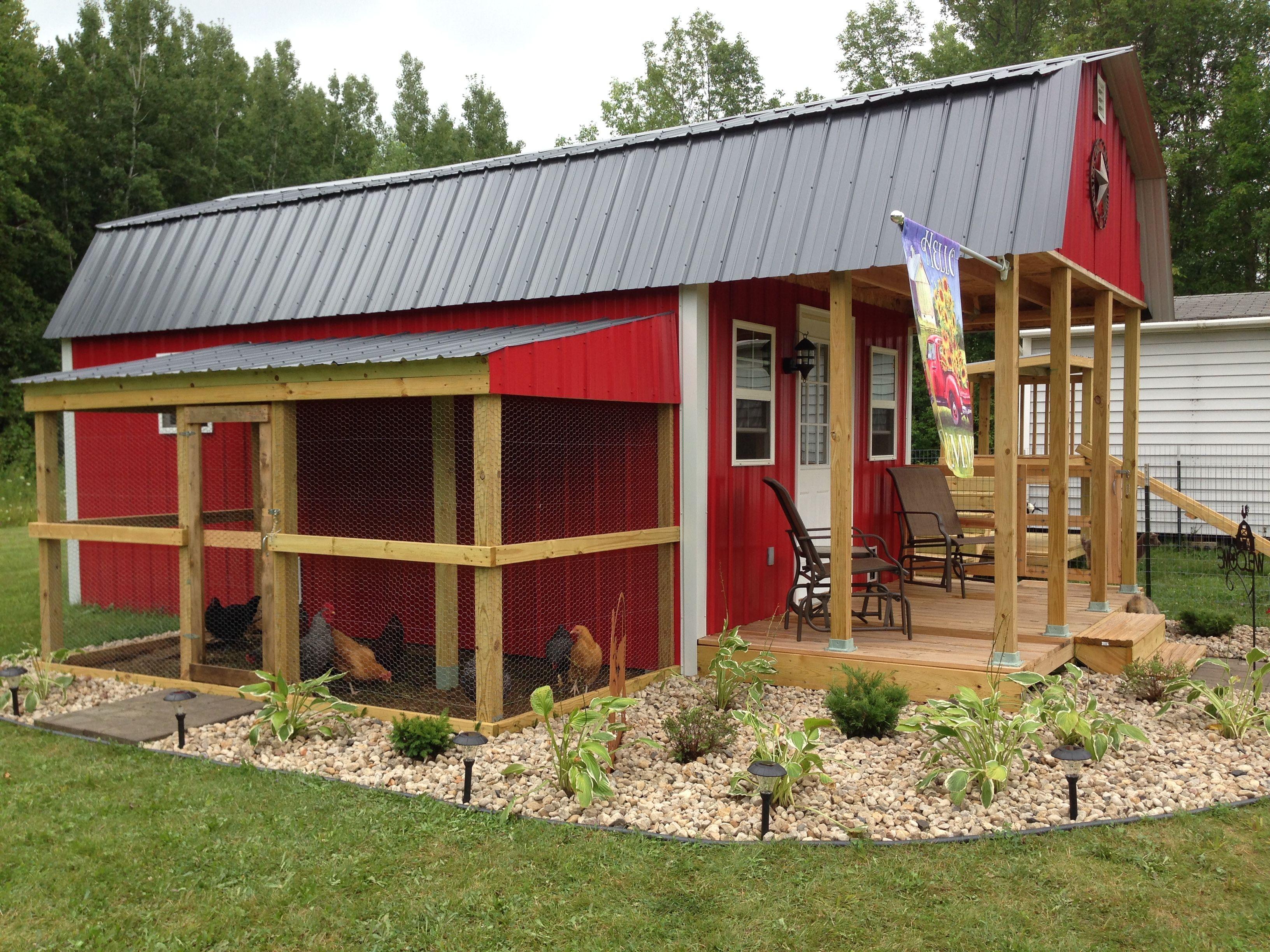 Mini Barn On Our Hobby Farm Farm Layout Chicken Coop Plans Chicken Barn