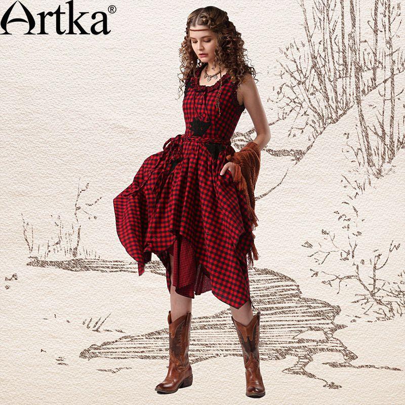 Encontrar Más Vestidos Información acerca de Artka mujeres de Gypsy ...