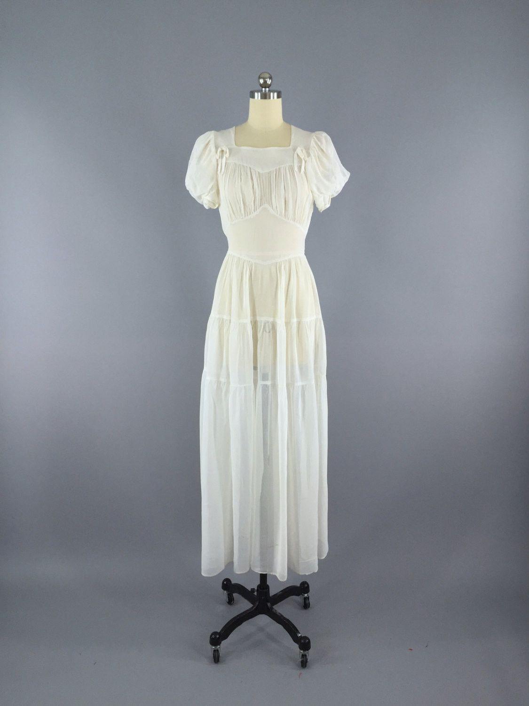 Vintage 1930s Dress / 30s Vintage Wedding Dress | Vintage weddings ...