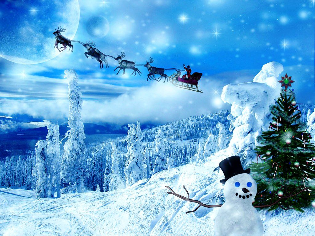 images of animated christmas wallpaper | Winter Animated Christmas ...
