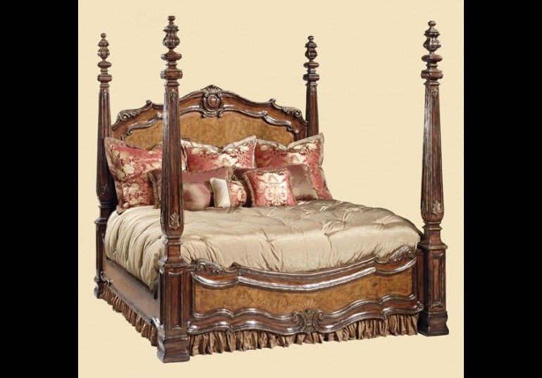 Beds Queen King California Sizes High Cl Furniture Master Bedroom Set 4 Post Bed