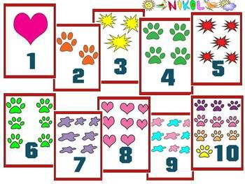 40 Flashcards Numbers And Pictures Clip Art Personal Or C Flashcards Clip Art Math Powerpoint