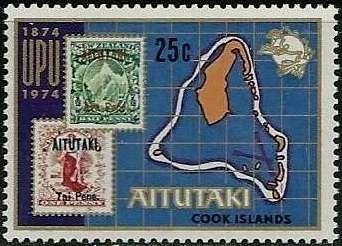 Sello Aitutaki Stamps And Map Aitutaki Upu Centenary Mi Ck Ai