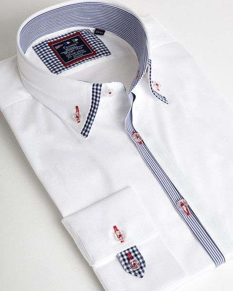 0a698bab8e41 Stylish double collar for men #menshirts Formal Shirts For Men, Collar  Shirts, Double