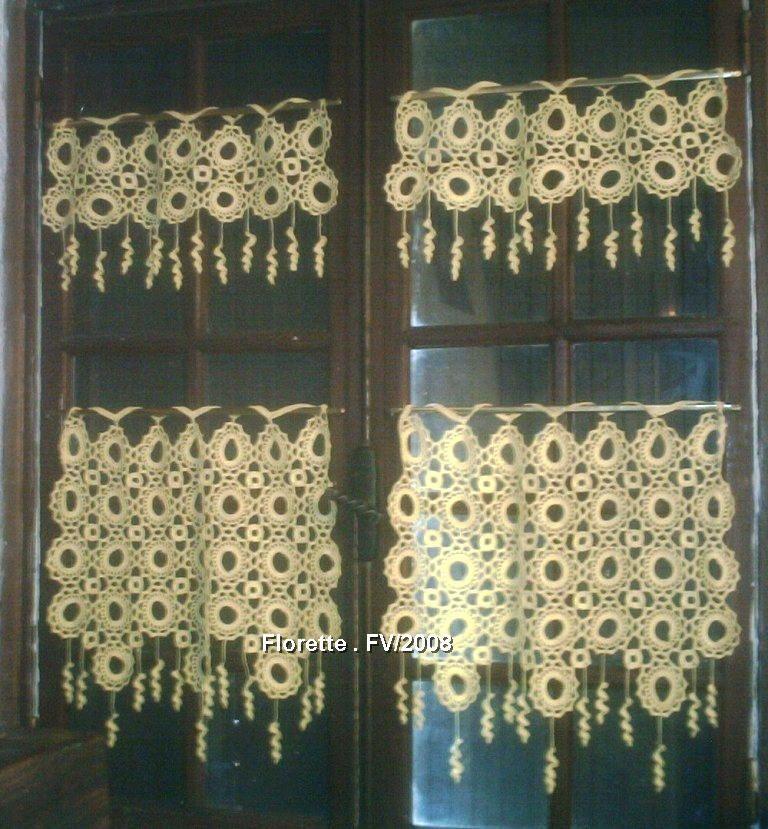 Gabarit mod le gratuit rideau crochet a faire pinterest - Faire ses rideaux au crochet ...