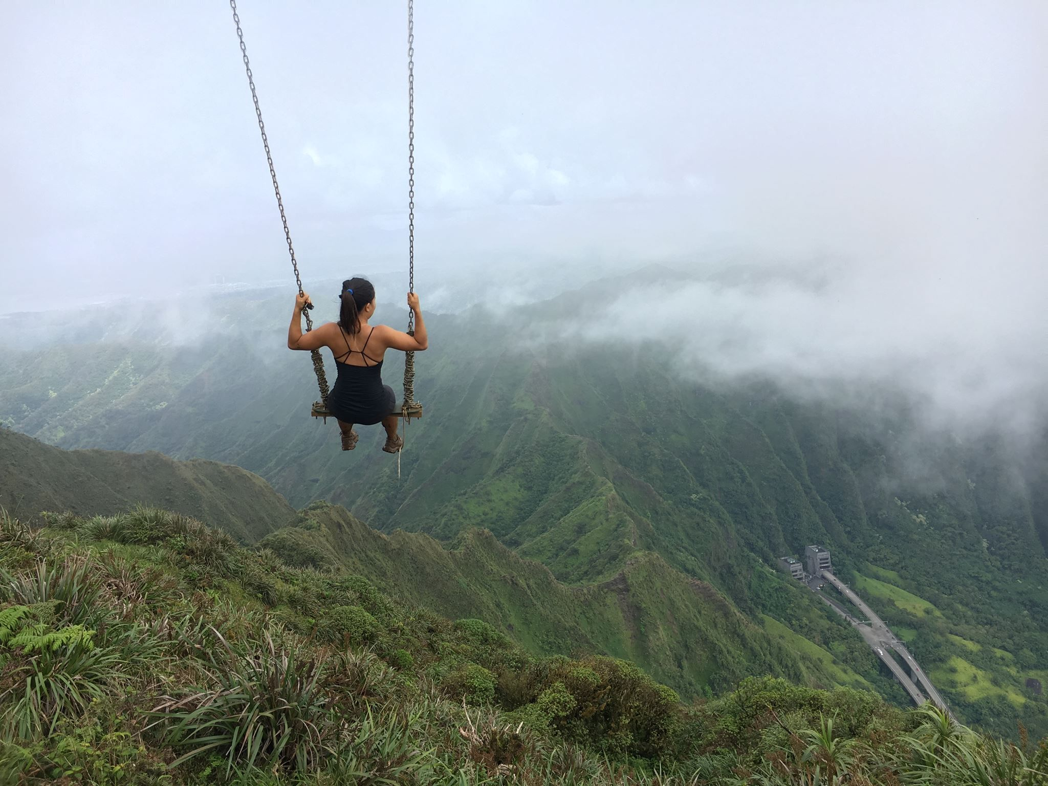 Swing in the sky - at the top of Stairway to Heaven in Hawaii this ...