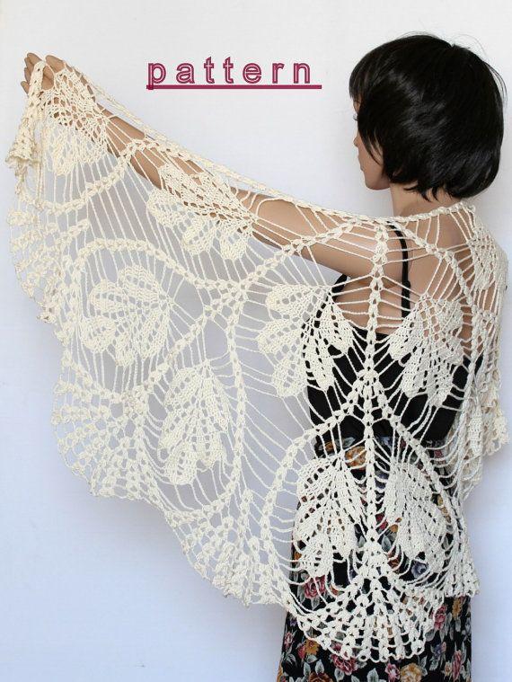 Crochet Shawl Pattern Wedding Shawl Wrap Shawls Crochet Pattern ...