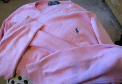 New Listing Started polo Ralph Lauren Pink jumper size medium unisex used condition £2.00