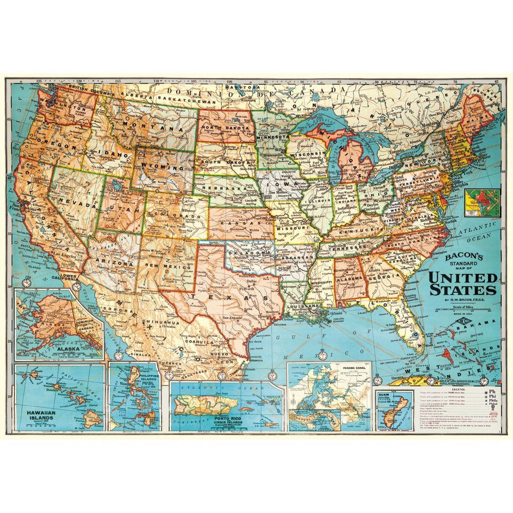 Cavallini USA Map Wrapping Paper $4- To frame and hang. | Boys room ...