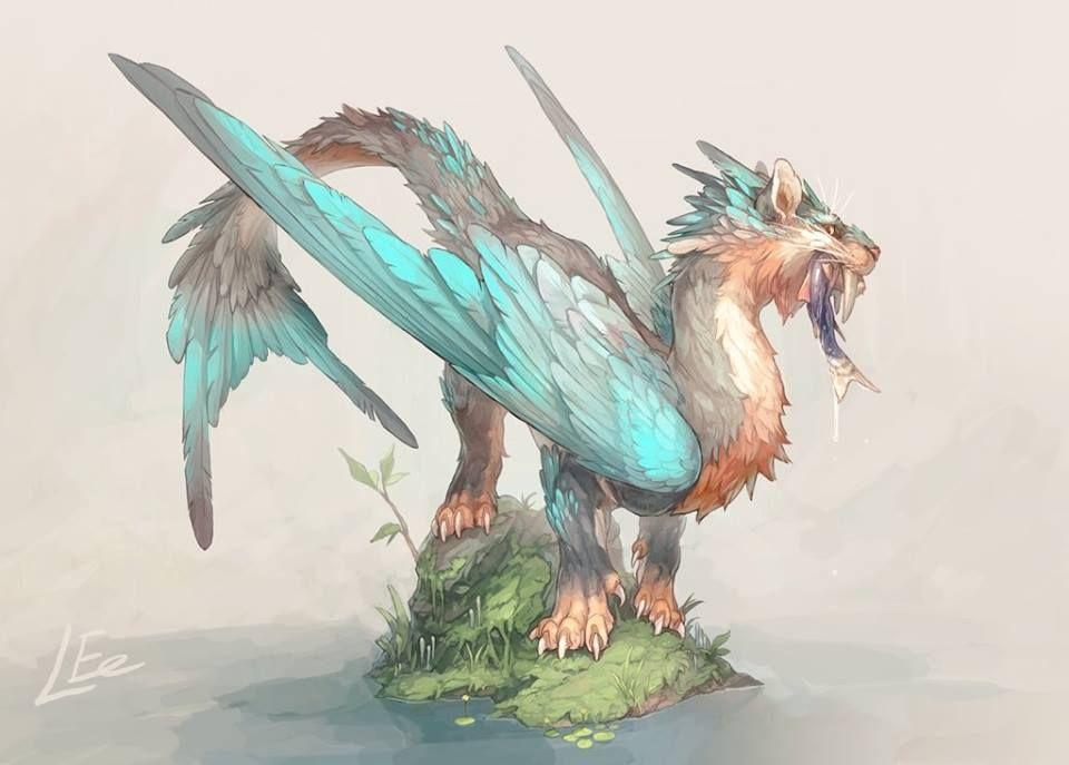картинки фантастическое животное дракон как